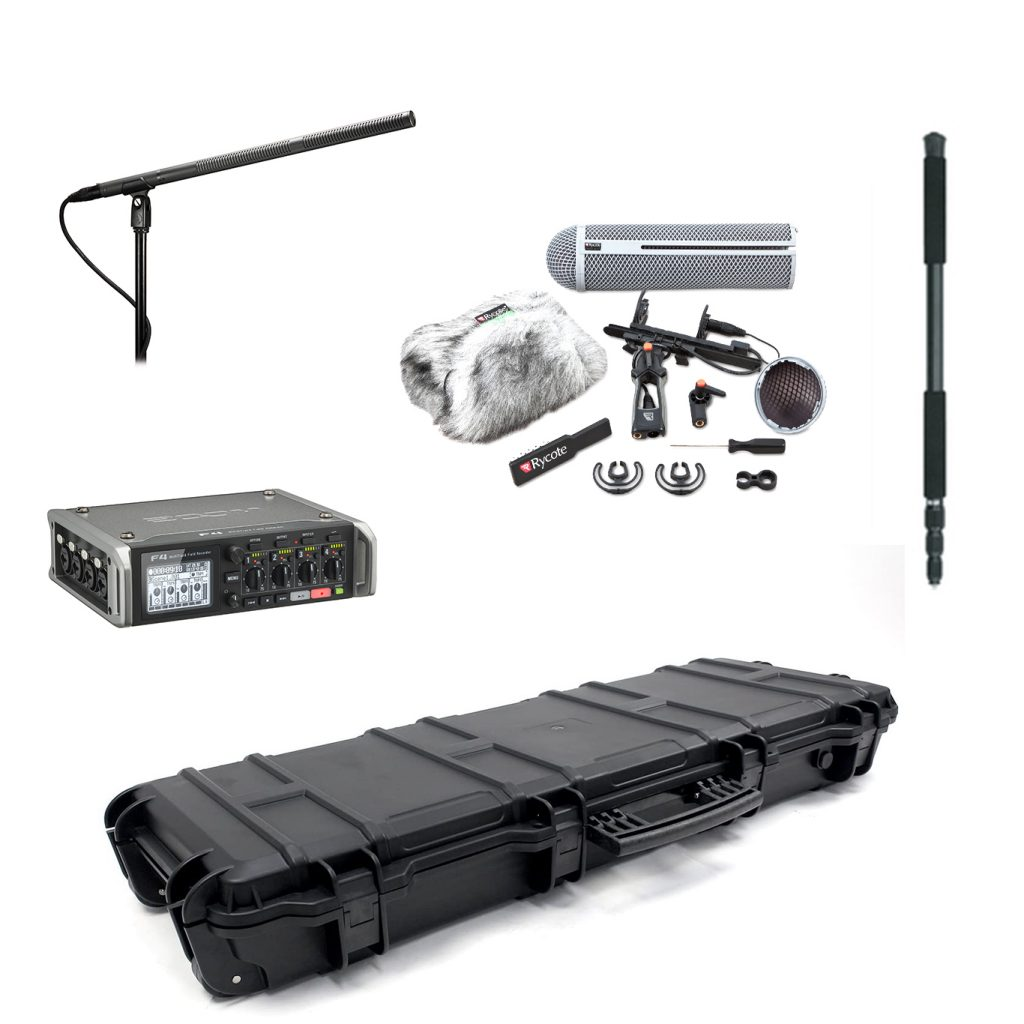 Audio Recordist Set(AT8015, Zoom F4, RYCOTE Windshield Kit 4, Boom Pole) Image