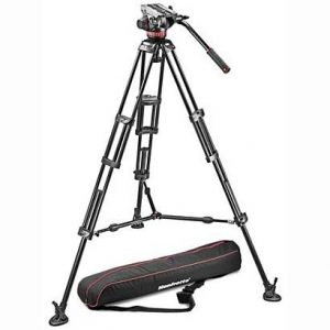 Manfrotto 504HD Head + 546BK Tripod System - Mid Spreader Image