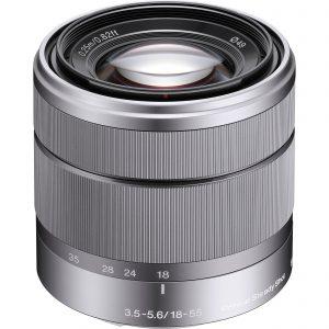 Sony E 18-55mm f/3.5-5.6 OSS Lens (Silver) Image