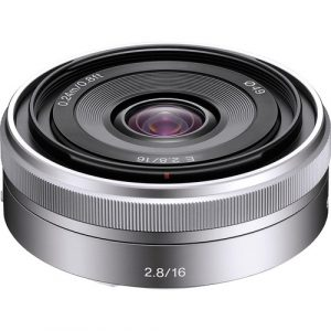 Sony E 16mm f/2.8 Lens (Silver) Image