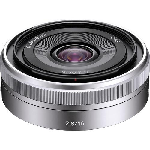 Sony E 16mm f/2.8 Lens (Silver) Image