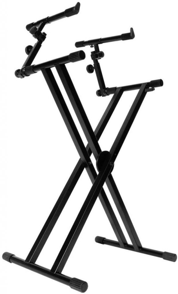 Double tier Double braced Keyboard Stand Image
