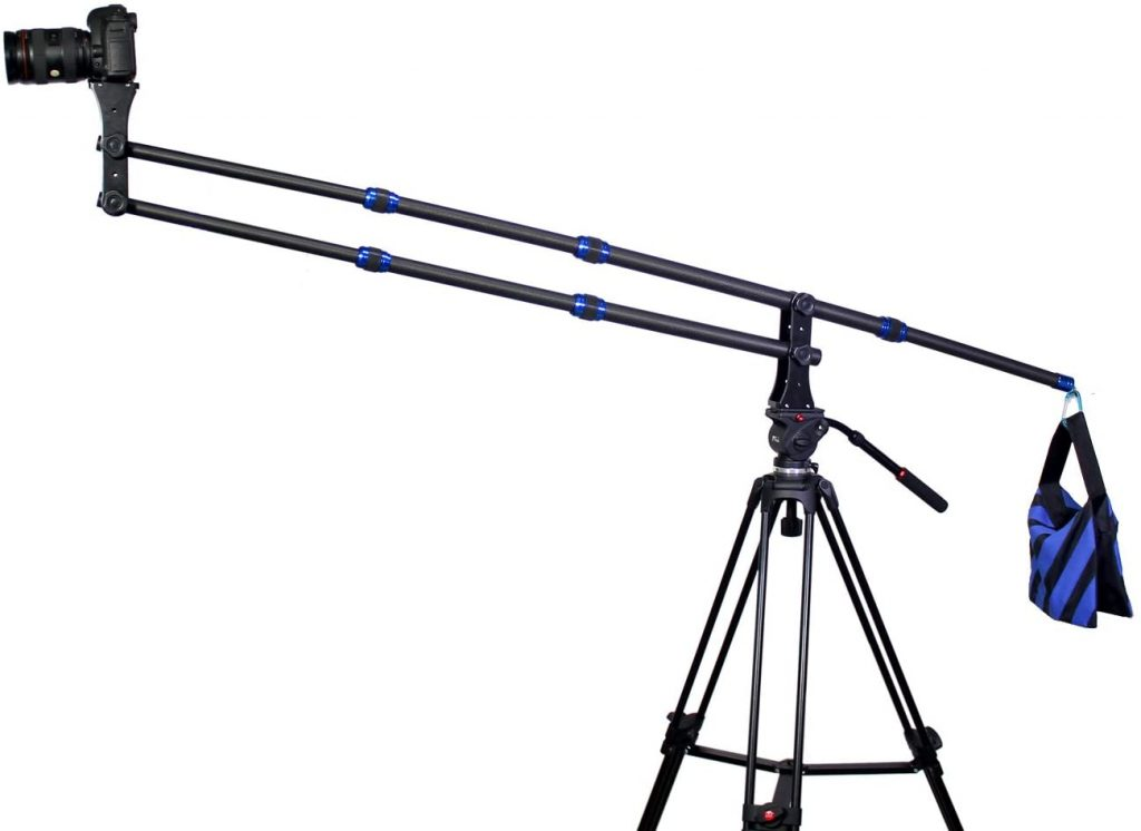Koolertron Carbon Fiber 6.5ft/2M Portable Portable Camera Crane Jib Arm Image