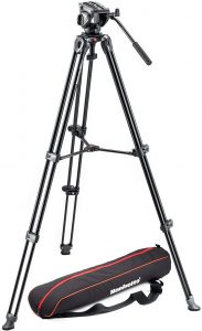 Manfrotto MVK500AM Lightweight Fluid Video Tripod System Image