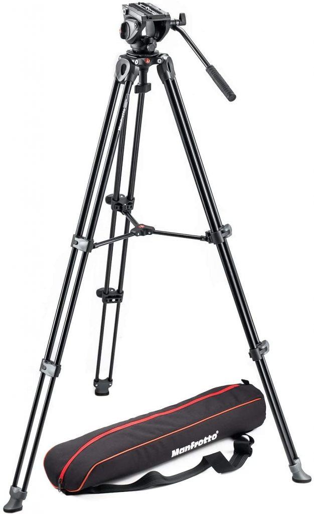 Manfrotto MVK500AM Lightweight Fluid Video Tripod System Image