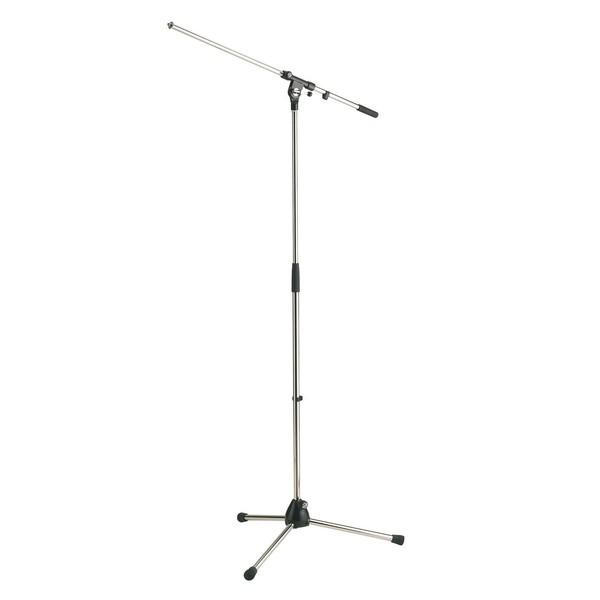 K&M 210/2 Boom Microphone Stand, Chrome Image