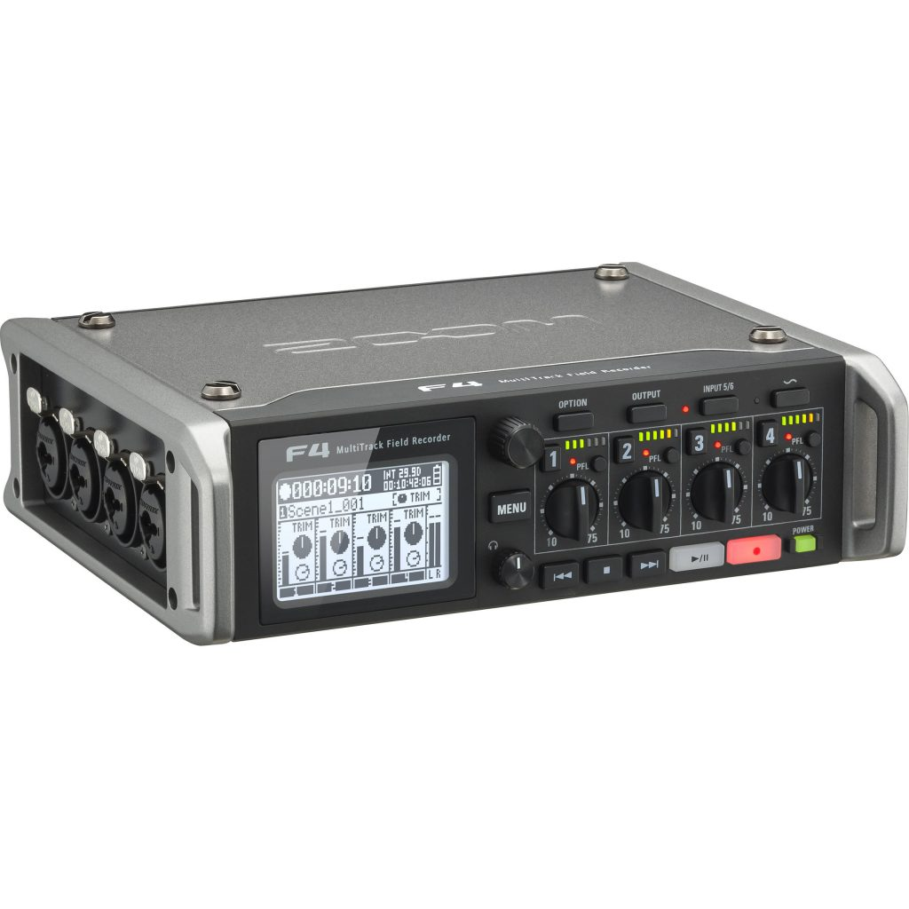 Zoom F4 6-Input / 8-Track Multi-Track Field Recorder Image